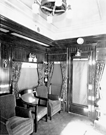 Original corporate travel experience on a private rail car